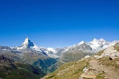 Matterhorn e Nadelhorn Fotografia Stock