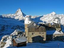 Matterhorn e obervatório Fotografia de Stock Royalty Free