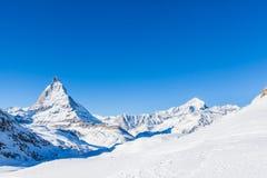 Matterhorn e Weisshorn Fotografia Stock Libera da Diritti
