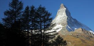 Matterhorn. Early morning at the Matterhorn in Zermatt, Switzerland Stock Images