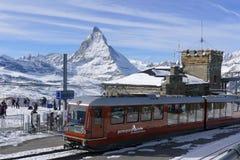 Matterhorn em Zermatt Imagens de Stock Royalty Free
