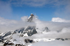 Matterhorn emerging from clouds Royalty Free Stock Photography