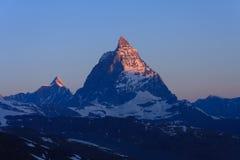 Matterhorn en el amanecer Imagenes de archivo