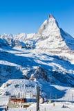 Matterhorn en Gornergratbahn stock afbeeldingen