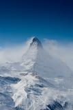 Matterhorn en hiver Photographie stock