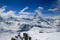 Matterhorn en invierno Foto de archivo libre de regalías