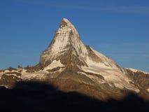 Matterhorn en matin Sun Images libres de droits