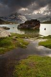 Matterhorn en nuages de Stellisee Image libre de droits