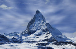 Matterhorn en nubes Foto de archivo libre de regalías