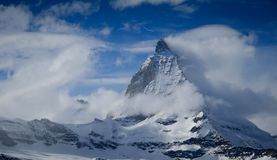 Matterhorn en nubes Fotografía de archivo