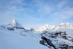 Matterhorn en Suiza Imágenes de archivo libres de regalías