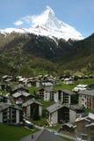 Matterhorn en Zermatt Royalty-vrije Stock Afbeelding
