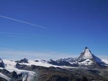 Matterhorn. Famous Matterhorn with blue clear sky Stock Photo