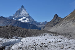 Matterhorn and glacier Royalty Free Stock Photo