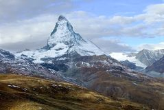 Matterhorn from Gornegrat. This is an early morning image of the Matterhorn in Summer from Gornergrat Stock Image