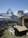Matterhorn and Gornergrat station Stock Photos