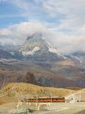 Matterhorn and Gornergratbahn Royalty Free Stock Photo