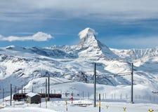 Matterhorn and the Gornergratbahn Stock Image