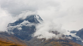 Matterhorn Hidden in Rain Clouds Stock Image