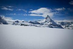 Matterhorn in inverno Fotografie Stock
