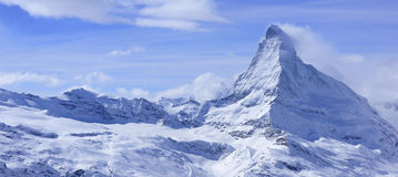 Matterhorn landscape in winter Stock Image