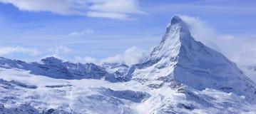 Matterhorn-Landschaft im Winter Stockbild