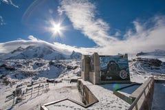 MATTERHORN lodowa raj SZWAJCARIA, PAŹDZIERNIK, - 27, 2015: Zima widok Matterhorn lodowa raj blisko Matterhorn szczytu Obrazy Stock