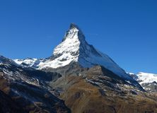 Matterhorn majestoso Fotografia de Stock