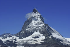 Matterhorn. (4,478 meters) in the Pennine Alps on the border between Switzerland and Italy Royalty Free Stock Photos