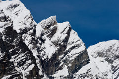 Matterhorn. The Matterhorn, or Monte Cervino , also known in French as Mont Cervin  is a mountain of the Alps, straddling the main watershed and border between Stock Image