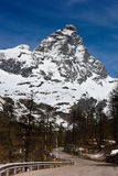 Matterhorn. The Matterhorn, or Monte Cervino , also known in French as Mont Cervin  is a mountain of the Alps, straddling the main watershed and border between Stock Photos