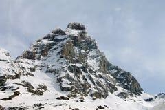 Matterhorn Monte Cervino från italiensk sida Royaltyfria Bilder