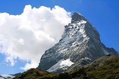Matterhorn - montering i schweiziska Alps Arkivfoto