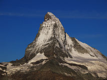 Matterhorn in Morning Sun With Blue Sky Royalty Free Stock Photo