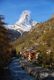 Matterhorn during Morning in Zermatt Royalty Free Stock Images
