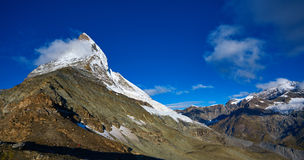 Matterhorn mount in the clouds Royalty Free Stock Image