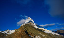 Matterhorn mount in the clouds Stock Photography