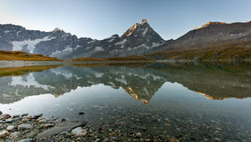 Matterhorn Mount (Monte Cervino) Royalty Free Stock Images