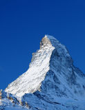 Matterhorn mountain. Snow covered peak of Matterhorn mountain, Pennine Alps, Switzerland and Italy Royalty Free Stock Image