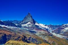 Matterhorn mountain. Alps Matterhorn mountain summer landscape Royalty Free Stock Photo