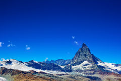 Matterhorn mountain. Alps Matterhorn mountain summer landscape Stock Images