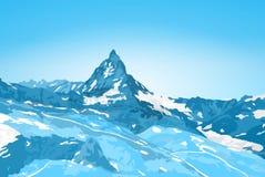 Matterhorn mountain. Alps Matterhorn mountain winter landscape Royalty Free Stock Photography