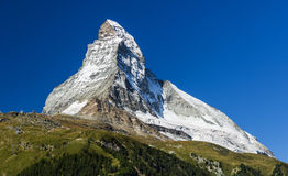 Matterhorn mountain, landmark of Swiss Stock Photo