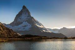 Matterhorn Mountain. View of Matterhorn Mountain with lake at Zermatt ,Switzerland Royalty Free Stock Image