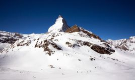 Matterhorn mountain in winter Royalty Free Stock Photo