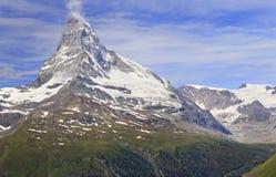 Matterhorn mountain, Zermatt area stock photography