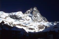Matterhorn mountaine. Monte Cervino - Italia royalty free stock image