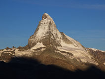 Matterhorn na manhã Sun Imagens de Stock Royalty Free