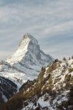 Matterhorn na paisagem da montanha do inverno de Zermatt Imagens de Stock Royalty Free