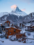 Matterhorn nad Zermatt w Szwajcarskich Alps zdjęcie royalty free